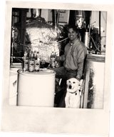 Tito's Vodka polaroid of Tito Beveridge and Dogjo