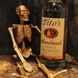Tito's Vodka With a Skeleton
