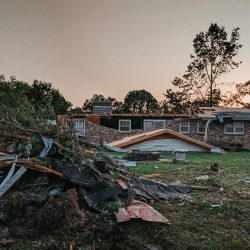 Aftermath of tornado in Jefferson MO