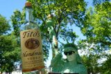 tito's vodka large bottle with art at governors ball