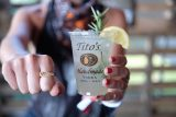 Tito's Vodka cocktail and VODKA ring