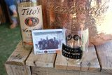 tito's vodka bottle at Austin Food and Wine